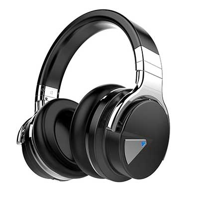 COWIN E7 Deep Bass Bluetooth Headphones with Mic Over Ear, Comfortable