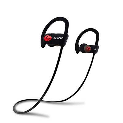 SENSO Bluetooth Sports Earphones, IPX7 Waterproof HD Stereo Earbuds
