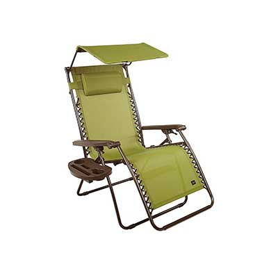 Bliss Hammocks Zero Gravity Chair with Canopy and Tray
