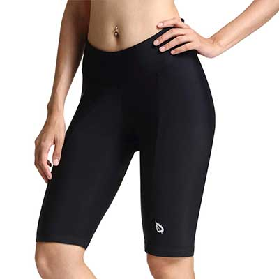 Baleaf Womens Bike Shorts with wide Waistband UPF 50+