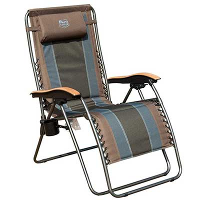 Timber Ridge Zero-Gravity Locking Outdoor Lounger Chair XL Padded