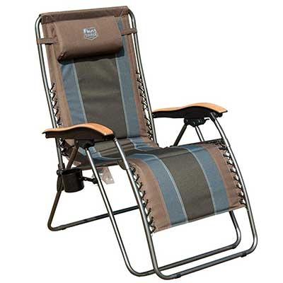 Timber Ridge Zero-Gravity Locking Outdoor Lounger Chair XL Padded