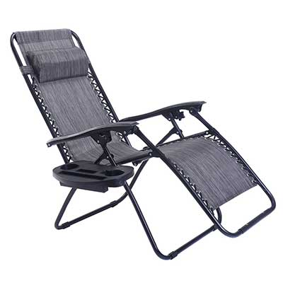 Goplus Folding Zero Gravity Reclining Lounge Outdoor Beach Patio Chairs
