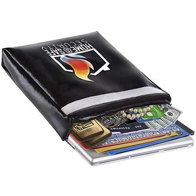 HSS XL Fireproof Safe Document Bag Triple Layer Fire Resistant Envelope Pouch