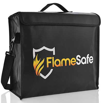 FlameSafe XL Premium Fireproof Document Triple Layer Silicone Fiberglass Bag
