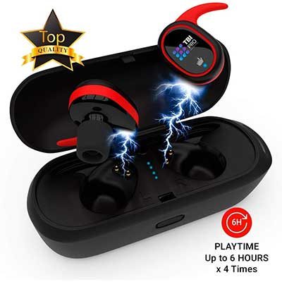 TBI Pro Upgraded 2019 True Wireless Bluetooth Earbuds - 24 Hours Playtime with True Mic