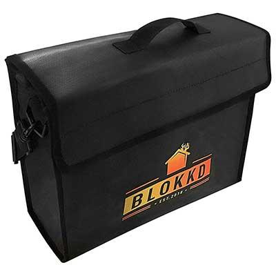 BLOKKD Fireproof Lock Box Fireproof Safe Document Holder Bags