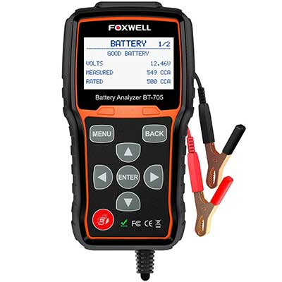 FOXWELL BT705 12V 24V Car Cranking and Charging System Test Scan Tool
