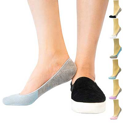 Thirty48 Women's No Show Loafer, Boat Shoe Socks with Firm Grip