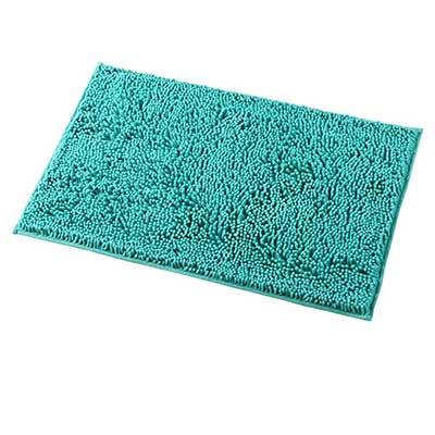 MAYSHINE Non-Slip Machine-Washable Bathroom Rug Shag Shower Mat