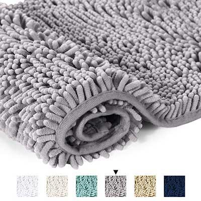 H.VERSAILTEX Microfiber Chenille Ultra Soft Washable Bathroom Dry Fast Rug