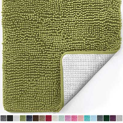 Gorilla Grip Original Luxury Chenille Bathroom Extra Soft and Absorbent Shaggy Rugs