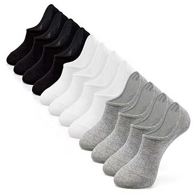 IDEGG Women No Show Casual Low Cut Socks Anti-slid Athletic Cotton Socks