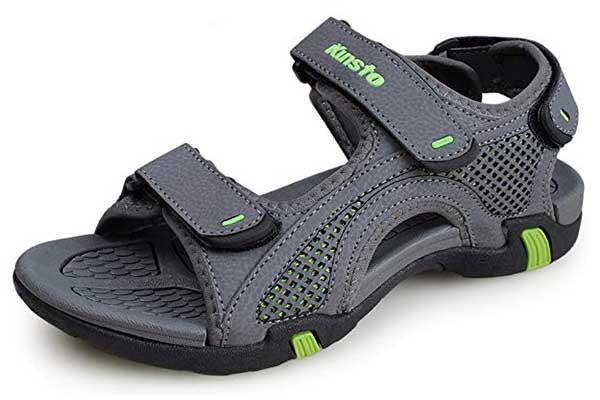 Kunsto Synthetic Leather Men's Open-Toe Sandal