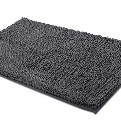 ITSOFT Non-Slip Shaggy Chenille Soft Microfibers Bathroom Rug