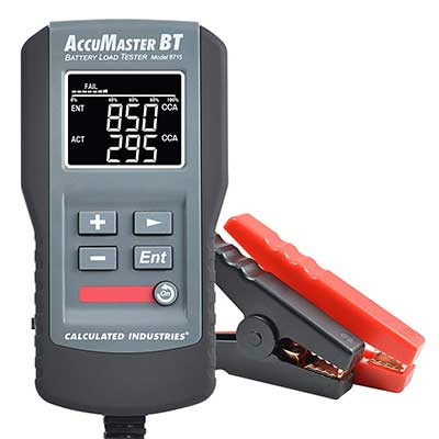 Calculated Industries 8715 AccuMaster BT Digital 12V Battery Load Tester Analyzes