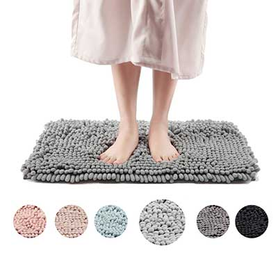 Freshmint Chenille Extra Soft Fluffy and Absorbent Microfiber Shag Rug