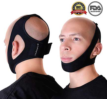 EarlyAdopters Anti-Snoring Chin Strap Device Adjustable Antisnore Head Band