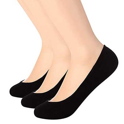 Toes Home Ultra Low Cut Liner Socks Non-Slip Invisible Women Socks