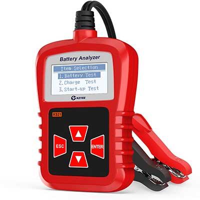 Kzyee KS21 Auto Battery Tester, 12V CCA Digital AnalyzerCar Battery Load Tester