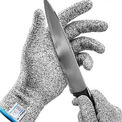Stark Safe Food Grade Cut Resistant Gloves Level 5 Protection Cutting Gloves