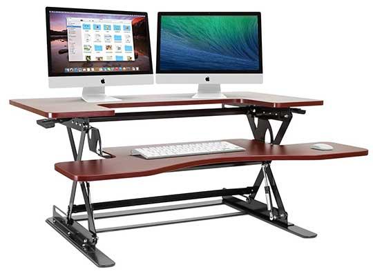 Halter ED-258 Preassembled k Sit/Stand Desk Elevating Desktop