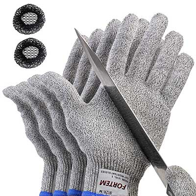 FORTEM THE EXTRA MILE Safety Cut Resistant Gloves For Hand Protection in Kitchen