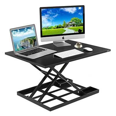 Defy Desk Standing Height Adjustable Sit Stand Converter Laptop Stands Folding Desk