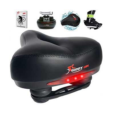 Giddy Up! Bike Seat Memory Foam Waterproof Bike Saddle