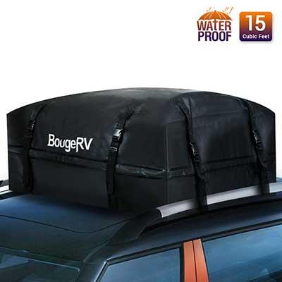 BougeRV Waterproof 15 Cubic Feet Car Roof Bag Rooftop Cargo Luggage Bag