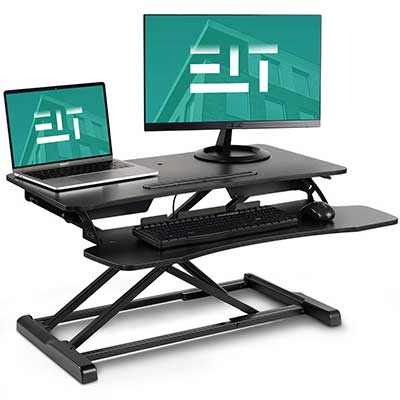 EleTab Converter Sit Stand Desk Riser Stand up Desk Tabletop Workstation