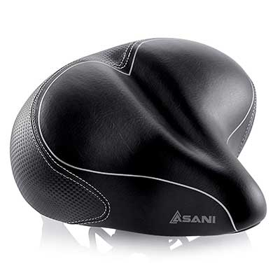 Asani Oversized Replacement Bicycle Saddle for Cycling