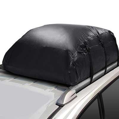 Xuliyme Waterproof PVC Soft-Shell Car Roof Bag Cargo Storage