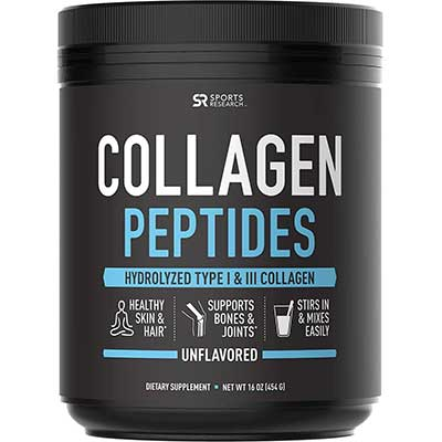Sports Research Unflavored Collagen Peptides Powder