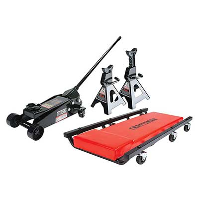 Craftsman 3T Floor Jack, Jack Stands, and Creeper Set