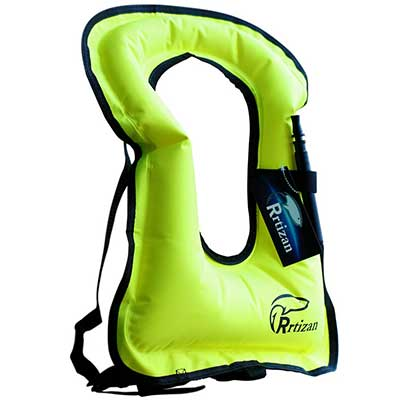 Rrtisan Adult Inflatable Snorkel Vest