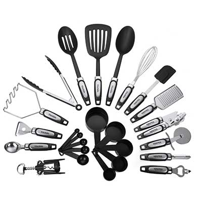 25-Piece Kitchen Tool & Utensil Set