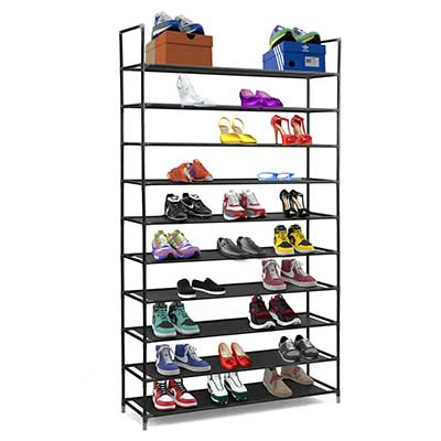Halter 10 Tier Stackable Stainless Steel Shoe Rack Storage