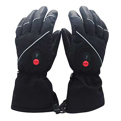 Savior Heated Gloves for Men and Women with Li-ion Battery for Hiking, Motorcycling
