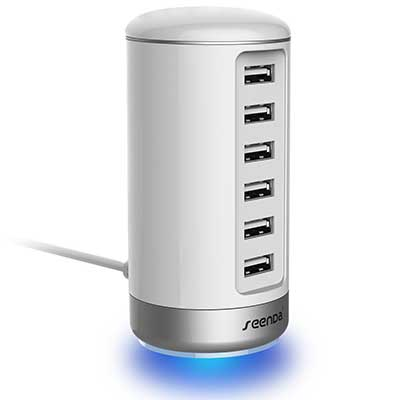 Seenda 6-Port Multi USB Charger with Smart Identification