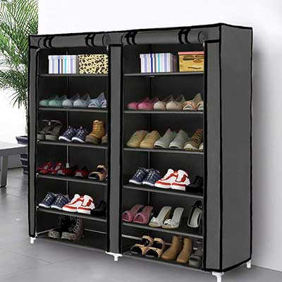 Blissun Non-Woven Fabric Cover Shoe Rack Storage Cabinet