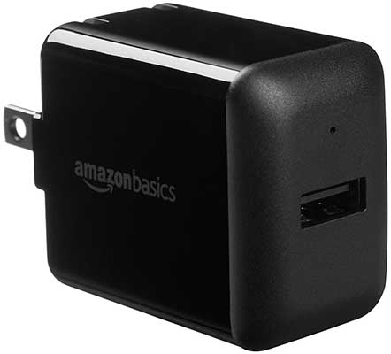 AmazonBasics 2.4 Amp One-Port USB Wall Charger