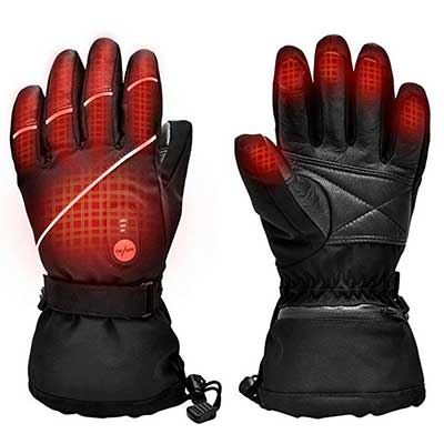 SNOW DEER Electric Ski Motorcycle Snow Mitten Arthritis Upgraded Heated Gloves