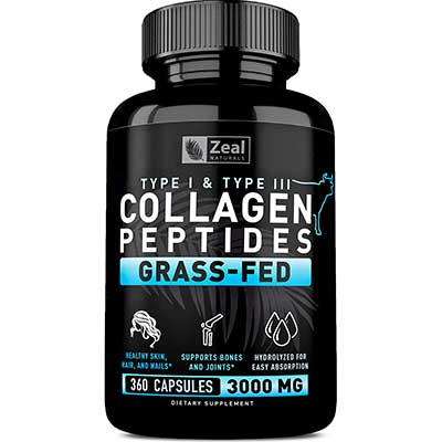 Zeal Naturals Pure Collagen Peptides Collagen Pills