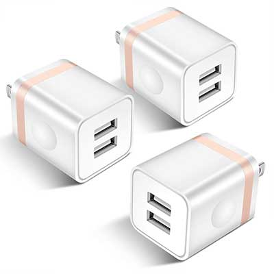 STELECH USB Wall Charger 2.1A Dual Port USB Power Adapter