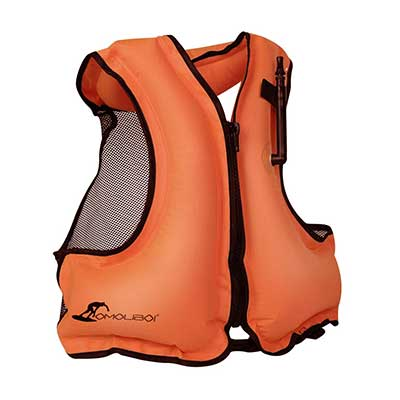 OMOUBOI Inflatable Snorkel Jacket Adult with Leg Straps