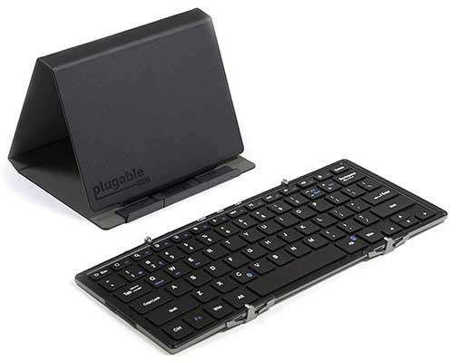 Plugable Foldable Keyboard Multi-Device Compatible Keyboard