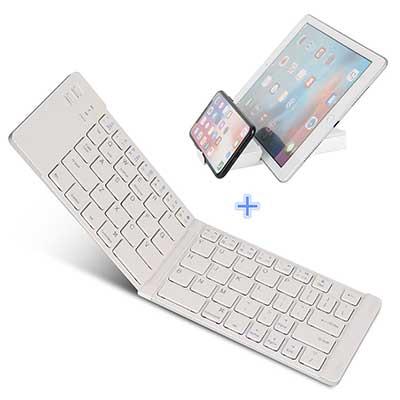 IKOS Ultra Slim BT Folding Mini-Keyboard Compatible