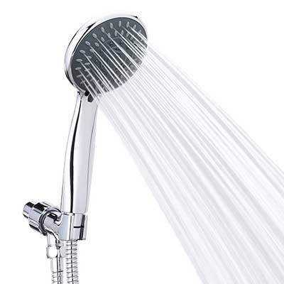 Briout 5 Settings Massage Spa Detachable Hand Held Showerhead