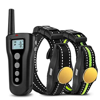 Bousnic Waterproof Dog Training Collars for 2 Dogs